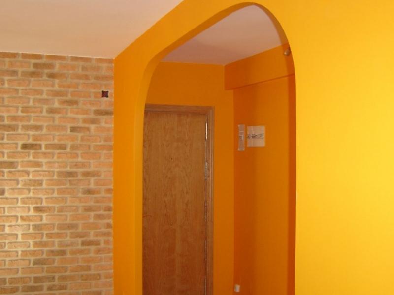 Reforma en piso en ladrillo r stico formaci n de arco en - Arcos de ladrillo rustico ...